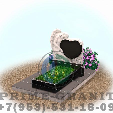 фото Памятник сердце с ангелом