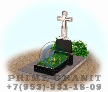 фото Памятник с крестом из гранита