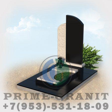 фото Комбинированный памятник из гранита