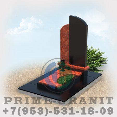 фото Памятник из гранита красного и черного