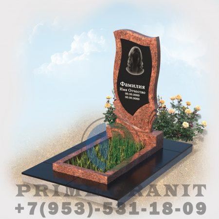 фото памятник комбинированный на могилу