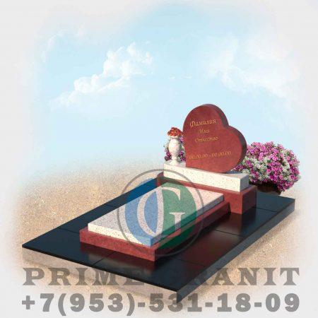 фото Памятник малиновый кварцит