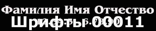Шрифты 00011