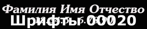 Шрифты 00020