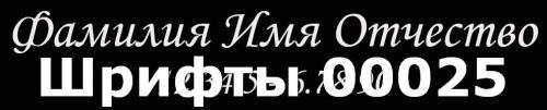 Шрифты 00025